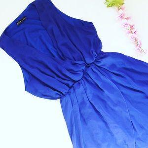 Royal blue short/long dress